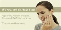 We're here to help you! Night or day, weekend or holiday. Give us a call. We'll take care of you. We accept most insurances. The Lakeway Center for Cosmetic and Family Dentistry offers Austin emergency dentist services.