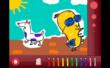 Brainy Fables apps feature fun coloring activities for each story