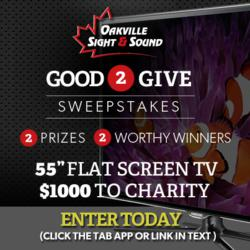 Oakville Sight & Sound Facebook Contest Good 2 Give