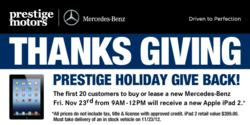 Prestige Holiday Give Back