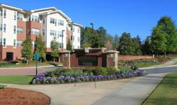 St. George Village, Roswell's first senior living Life Care retirement community, is located on 20 beautifully landscaped acres on the campus of the St. Peter Chanel Catholic Church and the schools of Queen of Angels and Blessed Trinity High.