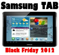 Samsung Tab Black Friday 2012 Sales