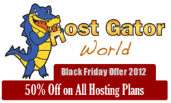 50% off on all Hostgator hosting plans