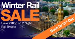 Superbreak Announce Launch of Winter Sale Promotion, Offering Exclusive Discount on Rail Breaks this Winter