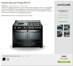 Rosieres Bocuse Prodige Range Cooker