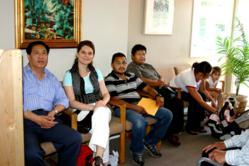 Clients of Samaritan House await free medical or dental care.