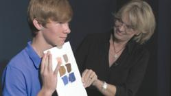 Chris Saper shows how to mix skin tones for redheads
