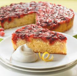 Festive Cranberry Upside Down Cake from Land O'Lakes