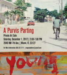 Flyer for private sale of Purvis Young paintings.