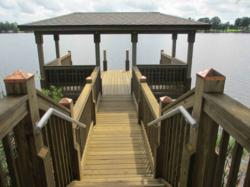 Orlando's Fender Marine Built this custom HOA dock for MI Homes.
