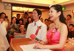Bestselling Author, Divorce Expert Hellen Chen hosting a marriage ceremony