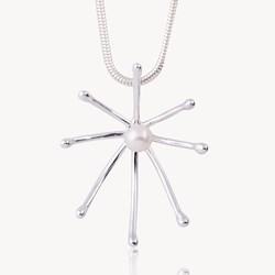 Astral pendant, pearl pendant, star pendant, celtic promise
