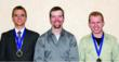 From L to R: Alex Pazkowski, Washtenaw Community College, Mich.;  Tanner Tipsword, Eastern Wyoming College, Wyo.; and, Andrew Cardin, Blackstone Valley Technical High School, Mass.