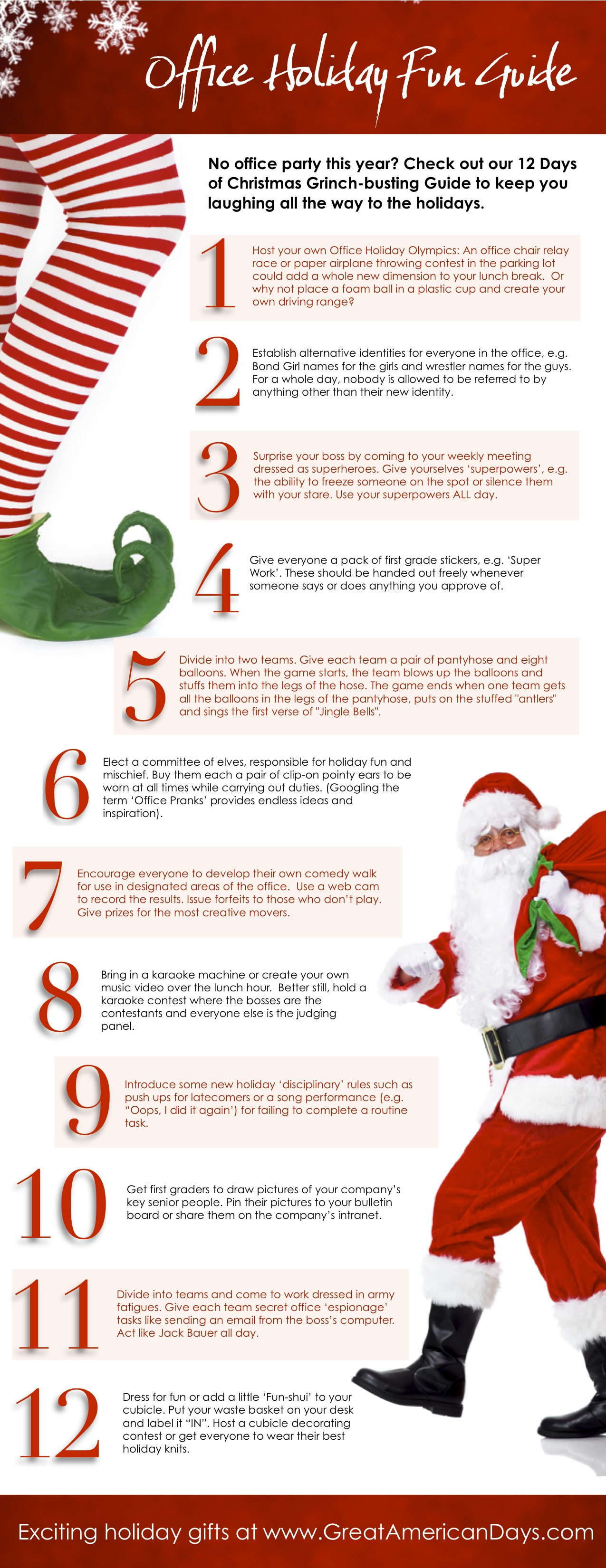 12 Days Of Christmas Party Ideas Part - 48: 12 Days Of Christmas Grinch Busting GuideNo Office Party This Year? Here  Are Some Ideas That Will Keep You Laughing All The Way To The Holidays.