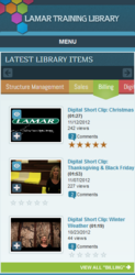 Utilizing a responsive design, the intranet video training portal renders on a multitude of devices
