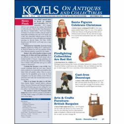 antiques, collectibles, kovels, santa, stein, firefighting, doorstop, furniture, vintage clothing