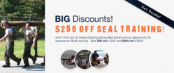 Save Up To $250 On SEAL Training Adventures!