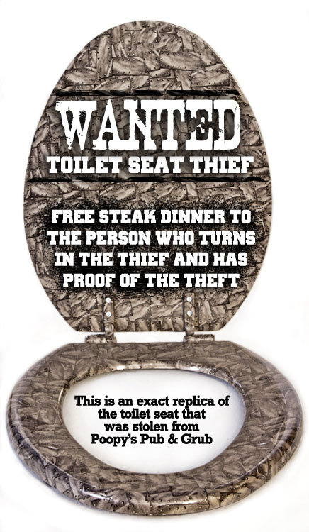 Barbed Wire Toilet Seat.  Used Toilet Seat Stolen From Poopy s Pub Grub