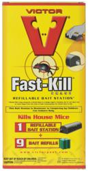 Victor® Fast-Kill® Brand  Refillable Bait Station with 9 Bait Blocks