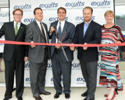 Dan Lindblade, President & CEO Greater Ft. Lauderdale Chamber of Commerce; Romney Rogers, Ft. Lauderdale City Commissioner; Jack Seiler, Mayor of Ft. Lauderdale; Zach Hoffman, Founder and CEO of Exults; and Carolyn Michaels, EVP of Greater Ft. Lauderdale
