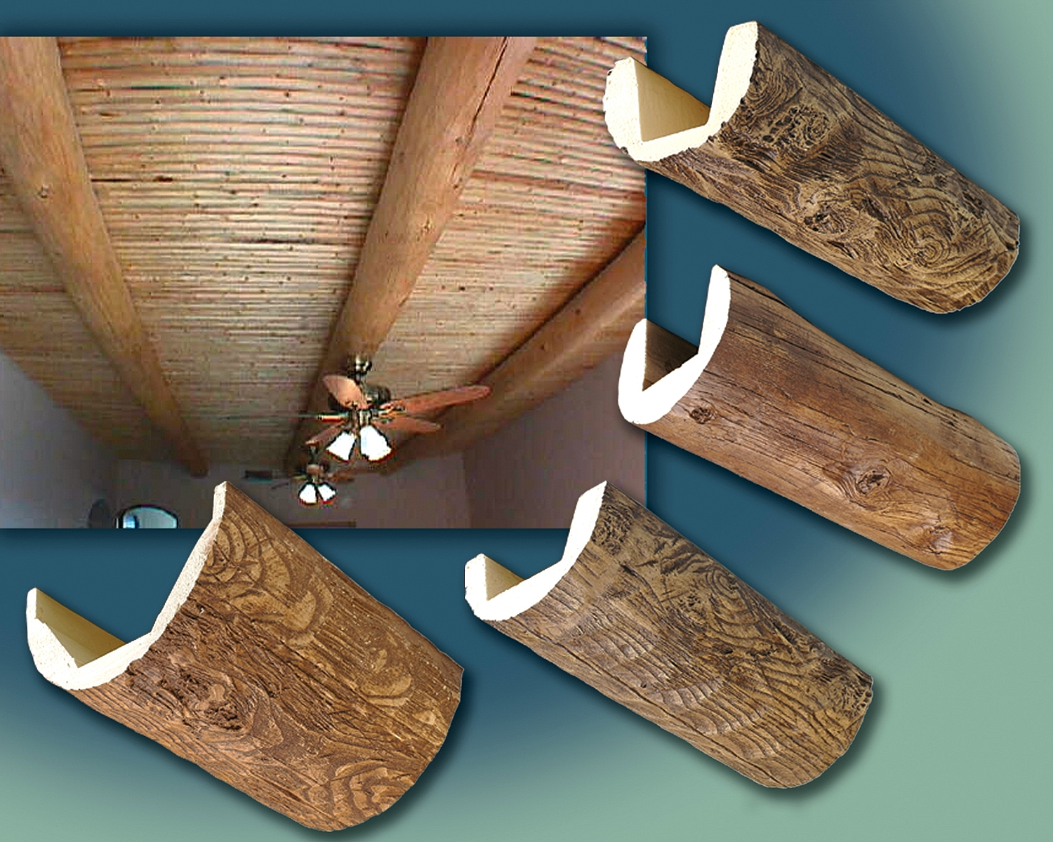 Exterior Decorative Wood Beams Example of a mountain style