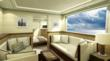 "1 of 3 ""owners suites"" onboard the 110' Curvelle powercat as alternative to 6 staterooms"