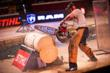 Dave Jewett competes in the hot saw discipline during the 2012 STIHL TIMBERSPORTS US Championship