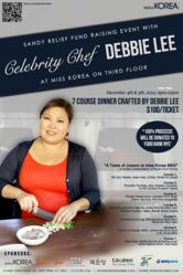 Hurricane Sandy Event with Celebraity Chef Debbie Lee at miss Korea BBQ on 3rd