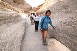 Hikers on a Guided Tour of Death Valley