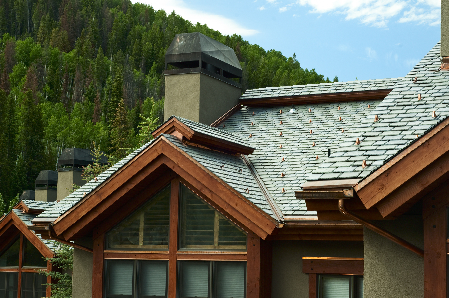 Davinci roofscapes reports that the color blue will for Polymer roofing