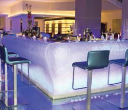 Acrylic ice bar at Radisson