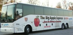 Travel aboard the big apple express between the beltway for Hunt valley motor coach tours