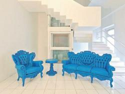 Blue Modern Living Room Set From PolArt