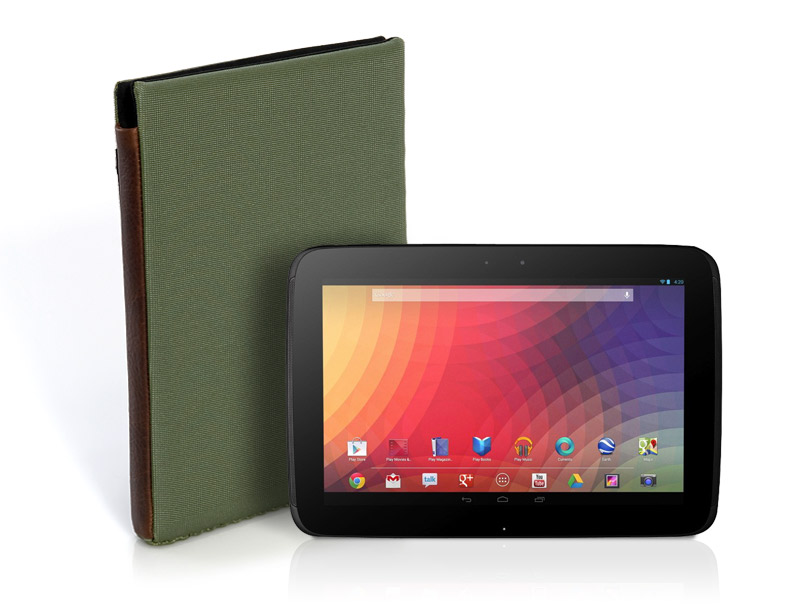 Nexus 10 Smart Case Shown In Pine Color Choice
