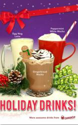 Crimson Cup Coffee & Tea Seasonal Promotional Drinks
