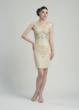 Sue Wong dress with all over seutache floral embroidery