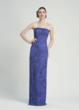 Sue Wong strapless column dress with corded embroidery