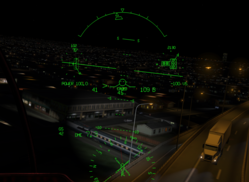 X-Plane Helicopter Head Up Display