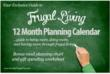 2013 12 Month Frugal Living and Planning Calendar