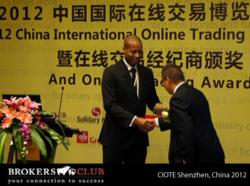 CEO Leroy Lawrence accepts Best International Broker 2012