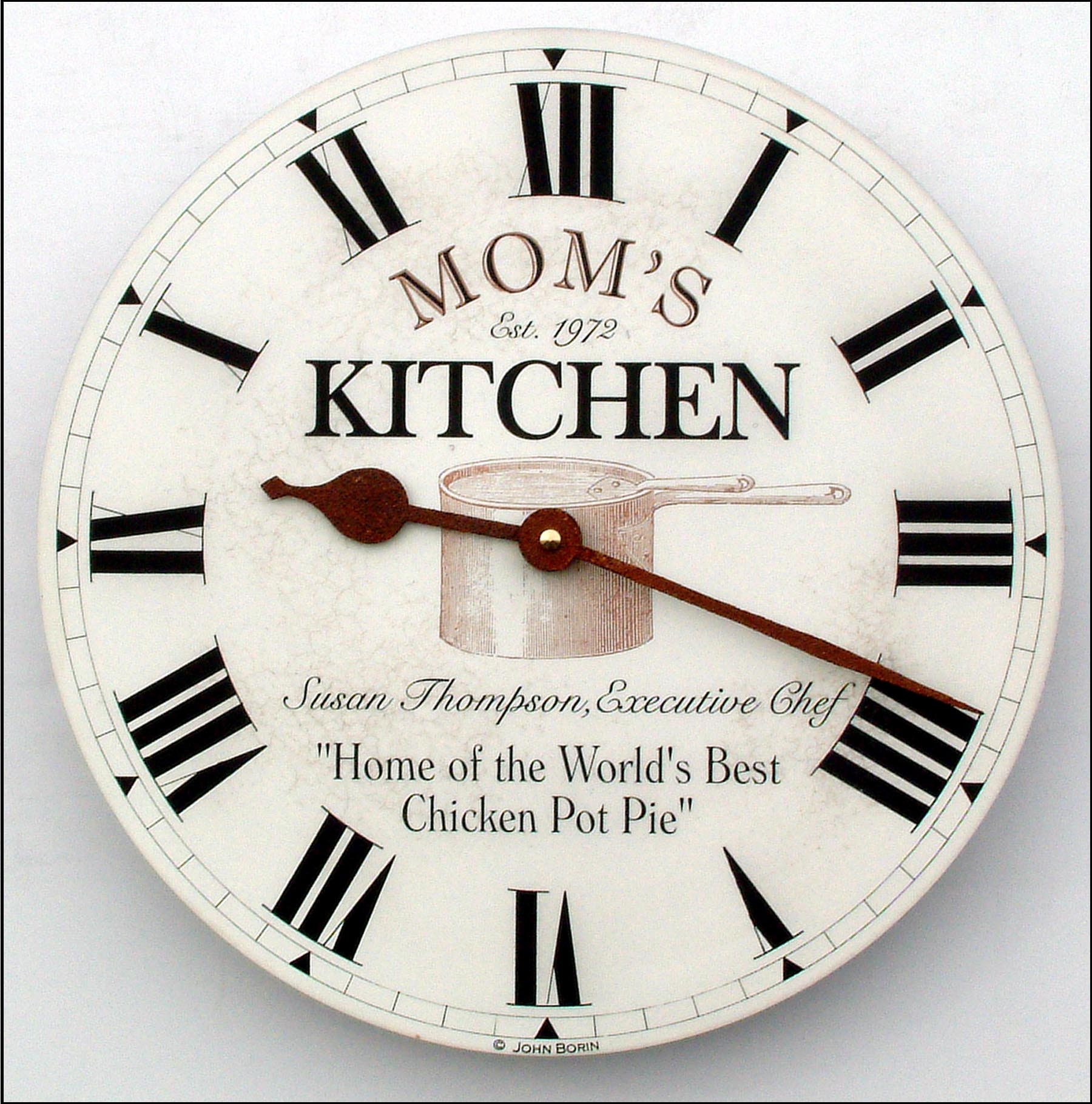 Remarkable Custom Kitchen Clock for Mom with Favorite Dish 1800 x 1819 · 375 kB · jpeg