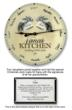 Nana's Kitchen Clock with Signatures of Grandchildren