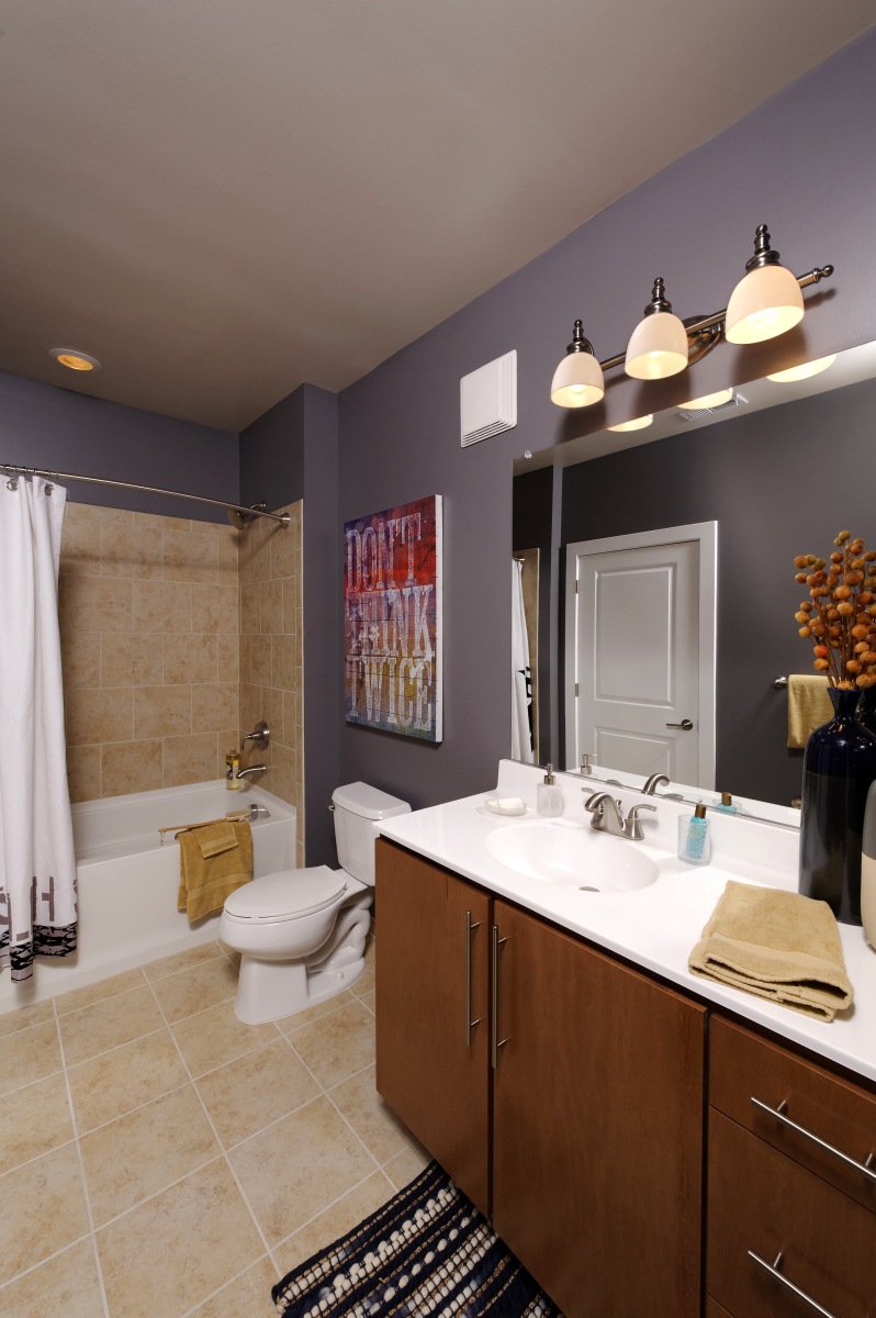 Trilogy noma apartments celebrate opening with mayor vincent c gray congresswomen eleanor - Apartment bathroom designs ...