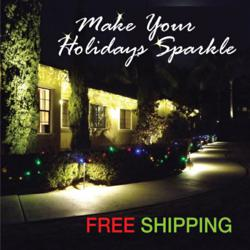 free shipping on led multi function christmas light orders