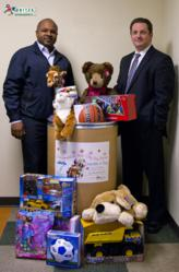 Brian Sims and Michael Barrett Collecting Toys for Seattle Children