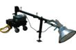 1000 Watt Portable Inspection Light on Wheeled Base and Adjustable Light Mast