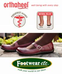 Orthaheel Shoes, Sandals and Slippers with arch support.