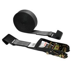 image of BlackLine 2'' x 30' Ratchet Strap w/ Flat Hooks from USCargoControl.com