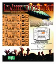 Led Zeppelin Limited Edition Main Floor Ticket Set, LedZeppelinTickets.com
