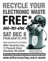 Second E-Waste Recycling Event December 8, 2012
